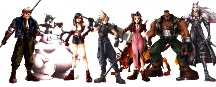 Final Fantasy 7 VII Cast of Playable Characters