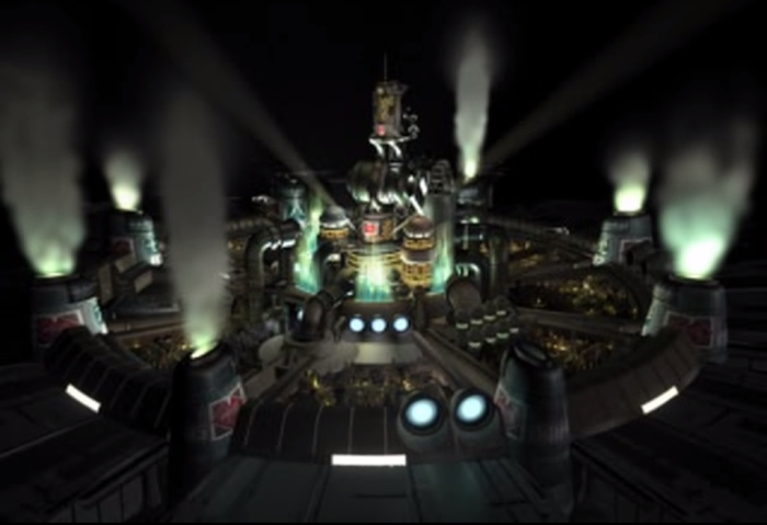 Final Fantasy 7 VII Screenshot of Midgar from opening cutscene
