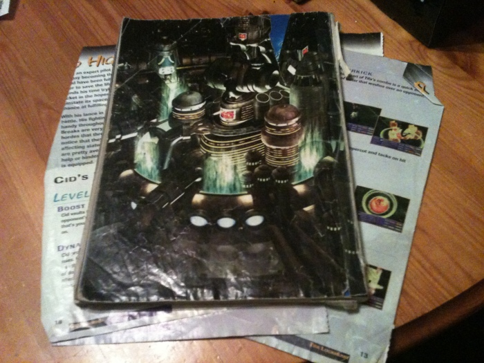 Final Fantasy 7 VII Torn Strategy Guide Back Cover