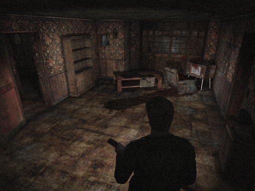 Silent Hill 2 Apartment TV Room