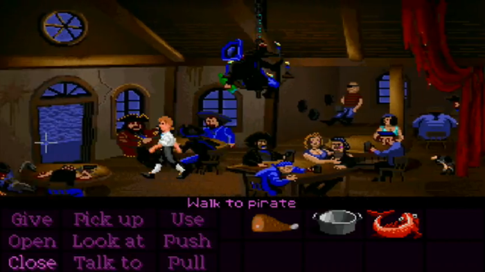 The Secret of Monkey Island SCUMM Bar Gameplay