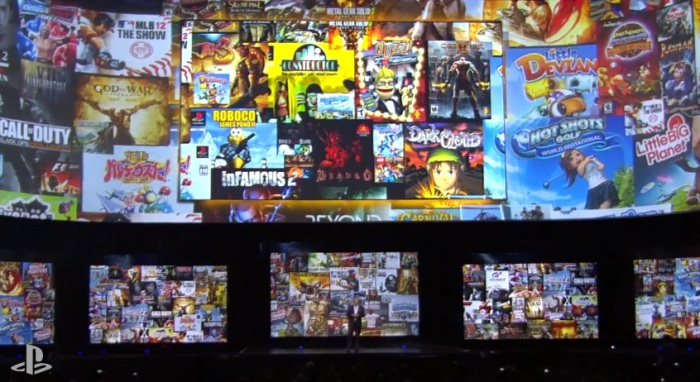 E3 2013 Sony Game Wall